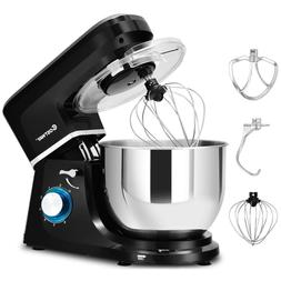 Electric Stand Mixer 6 Speed 7.5Qt 660W Tilt-Head Stainless