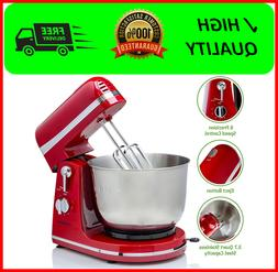 Ovente Electric Stand Mixer with 3.7 Quart Stainless Steel M