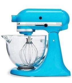 New KitchenAid glass bowl KSM105GBCCL 5-Quart Crystal Blue t