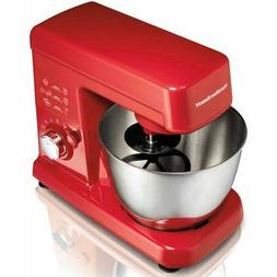Hamilton Beach 3.5 Quart Orbital Stand Mixer Red Tilt Up Hea