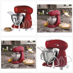HAMILTON BEACH Electric Stand Mixer 4.5QT Red Stainless Home