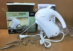 Simply Perfect Hand Mixer 7 Speed Beaters Dough Hooks Comple