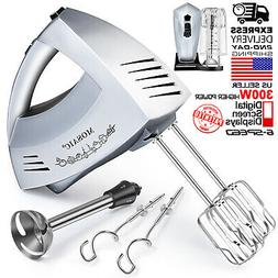 Hand Mixer Electric MOSAIC 300W 6 Speeds Digital Kitchen Mix