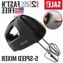 Hand Mixer Electric Hand Held Mixer Whisk Beater Blender Kit