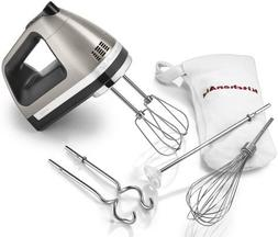 kitchenaid 9-Speed Hand Mixer Beautiful silver almost metal