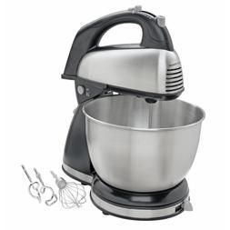 Hand Stand Mixer Stainless Steel Baking Dough 4 QT.