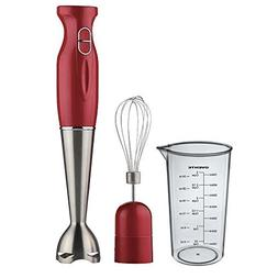 Ovente Kitchen HS583R Stainless Steel Immersion Hand Blender