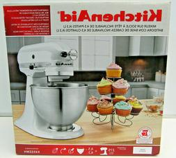 KitchenAid K45SSWH Classic 4.5 Qt. Tilt-Head White Stand Mix