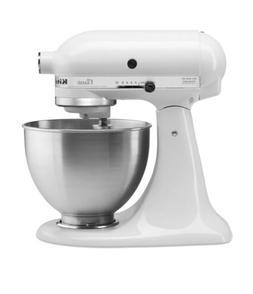 KitchenAid K45SSWH Tilt Head Stand Mixer 4.5 Quarts WHITE BR
