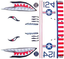 KA Mixer Cover Kit Flying Tiger Shark Plane Decal Sticker Re