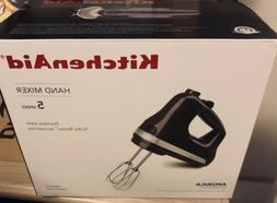 KitchenAid KHM512GT 5-Speed, Stainless Steel Hand Mixer- Tem