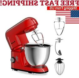 Kitchen 4.3Qt Tilt-Head Food Stand Mixer 6 Speed 550W /Dough