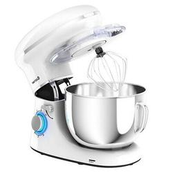 Kitchen 6.3 Qt Tilt-Head Food Stand Mixer 6 Speed 660W w/Dou