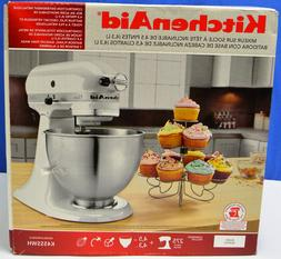 Kitchen Aid Classic K45SSWH Tilt-Head Stand Mixer- White 4.5