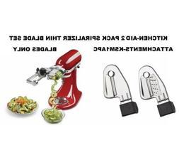 KitchenAid Kitchen Aid Spiralizer Thin Twin Blade Set Stand