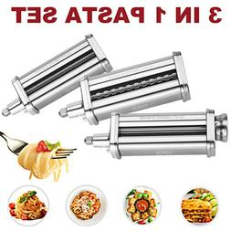 For KitchenAid Pasta Roller Cutter Maker Kit 3-piece Stand M