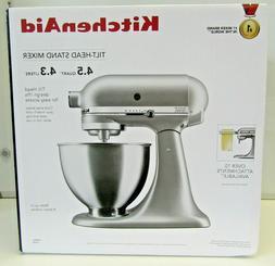 KitchenAid KSM88SL 4.5 Quart Tilt-Head Stand Mixer Silver SE