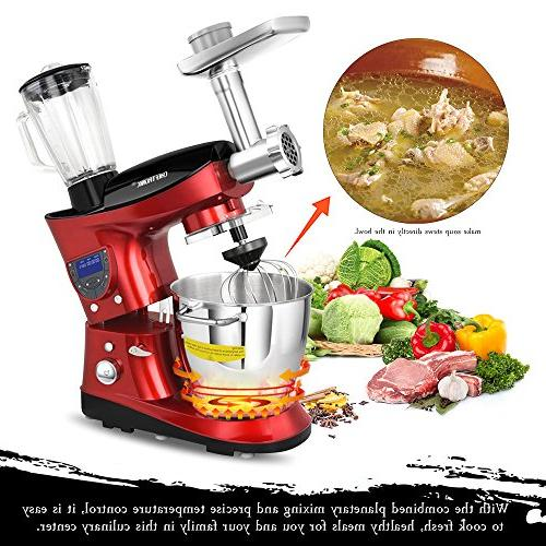 CHEFTRONIC In 1 Multifunction Stand SM-1088, 1000W 7.4QT Precise Heat with for Mother's Xmas, Wedding,