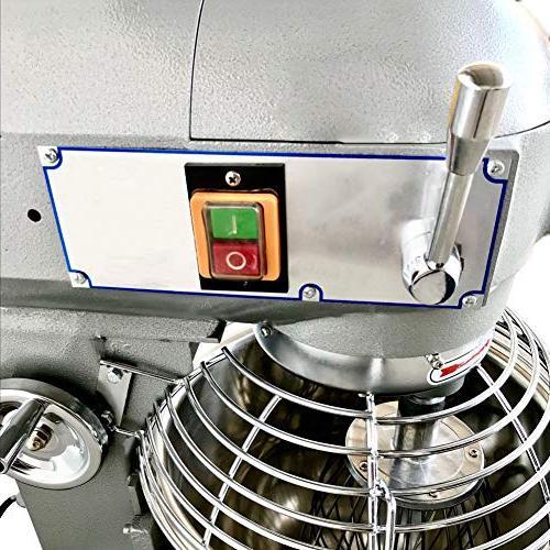 110V 1800W 3 30Qt Commercial Dough Food Mixer Driven Pizza