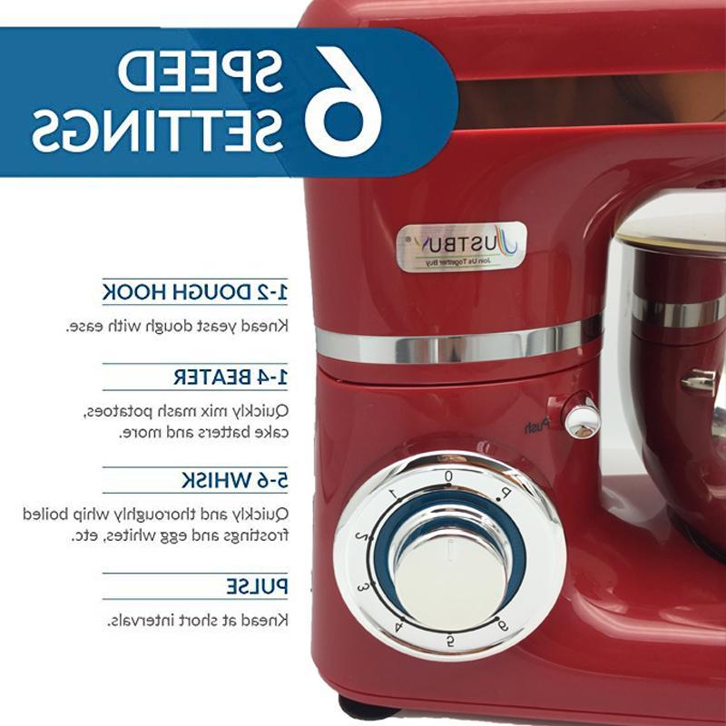 1200W <font><b>Bowl</b></font> 6-speed <font><b>Stand</b></font> <font><b>Mixer</b></font> Cream Egg Whisk Dough Bread <font><b>Mixer</b></font>