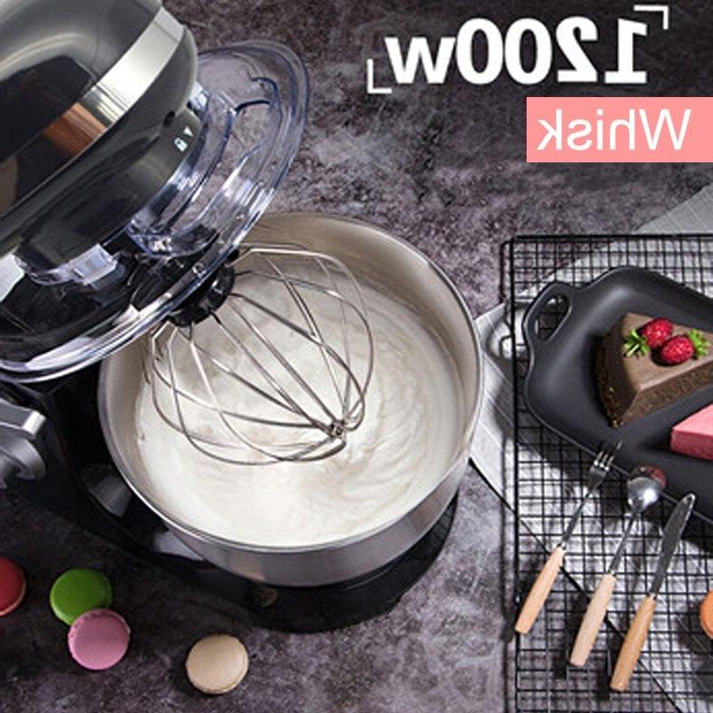 1200W 4L Steel <font><b>Bowl</b></font> 6-speed Kitchen <font><b>Stand</b></font> Cream Whisk Bread Maker