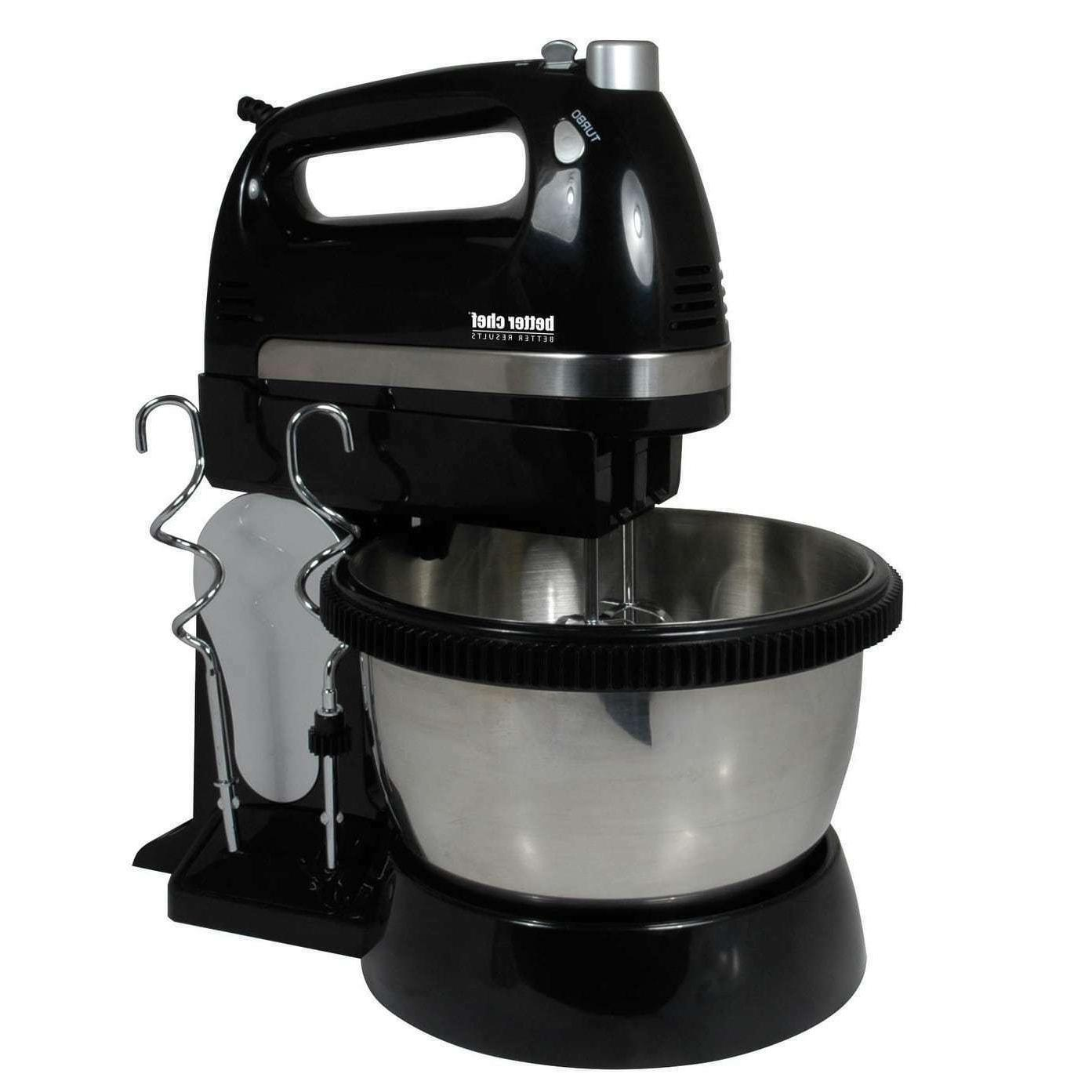 Better Chef 2-in-1 Stand and Hand Mixer - 5-Speeds with Turb