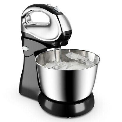 200W 5-Speed Mixer Dough Hooks & Bowl