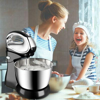 200W Stand Mixer w/ & Stainless Bowl