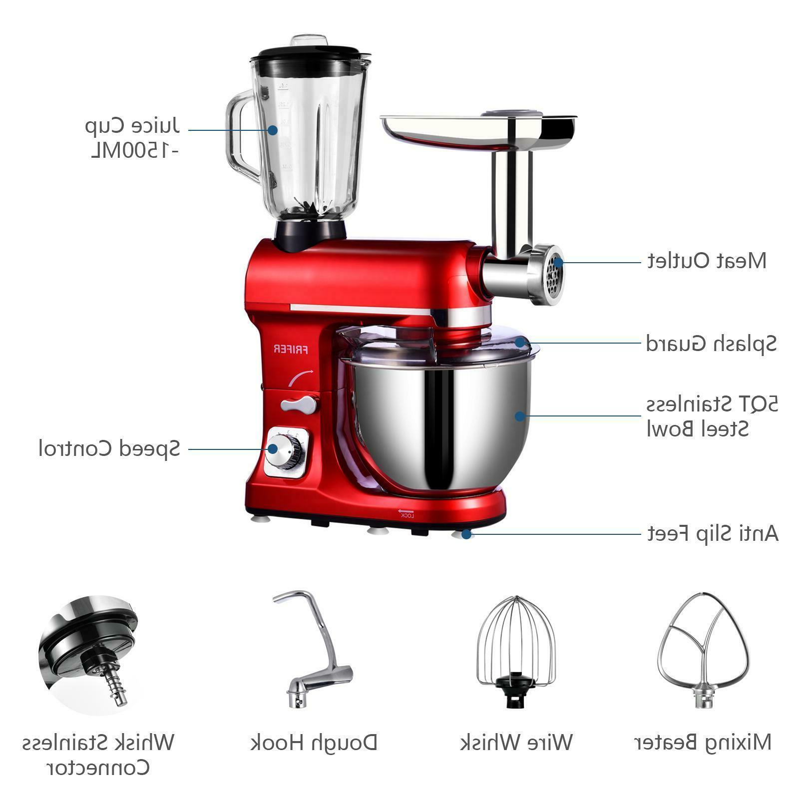 3 Mixer 6 Speeds Meat Grinder Blender