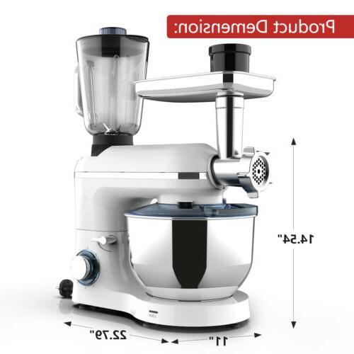 3 in Mixer w/7QT Bowl 6 Speeds 850W Grinder Blender
