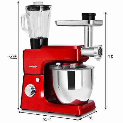 3 In Upgraded Stand Mixer with Stainless Grinder Blender