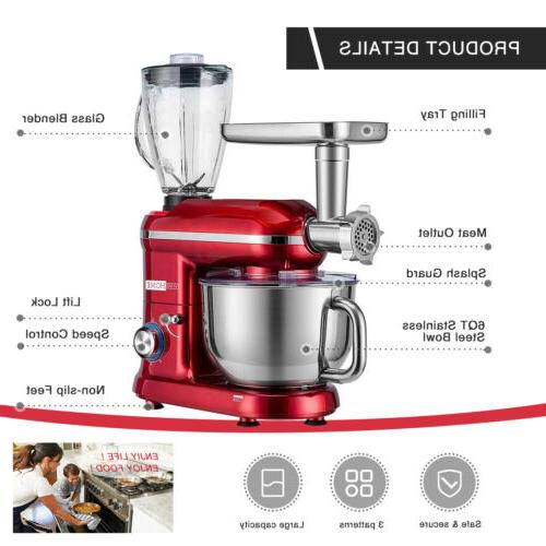 VIVOHOME 3In1 Stand Mixer Grinder 6 Speed