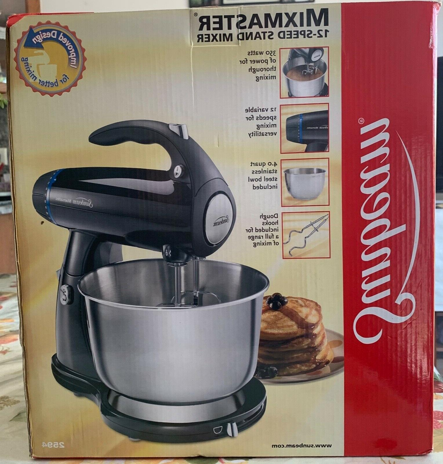 4 qt 12 speed stand mixer stainless