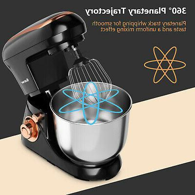 Costway Qt Stand Mixer Kitchen Stainless Black