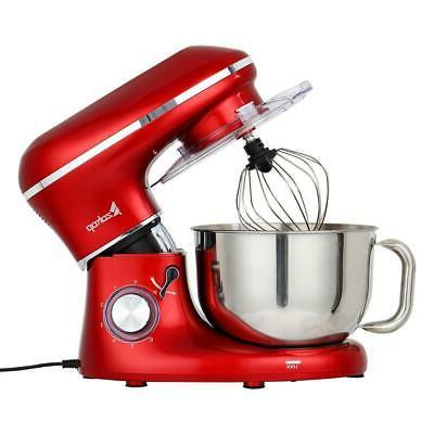 Zokop 660W 5.8QT 6 Speed Stand Mixer with Stainless Steel Mi