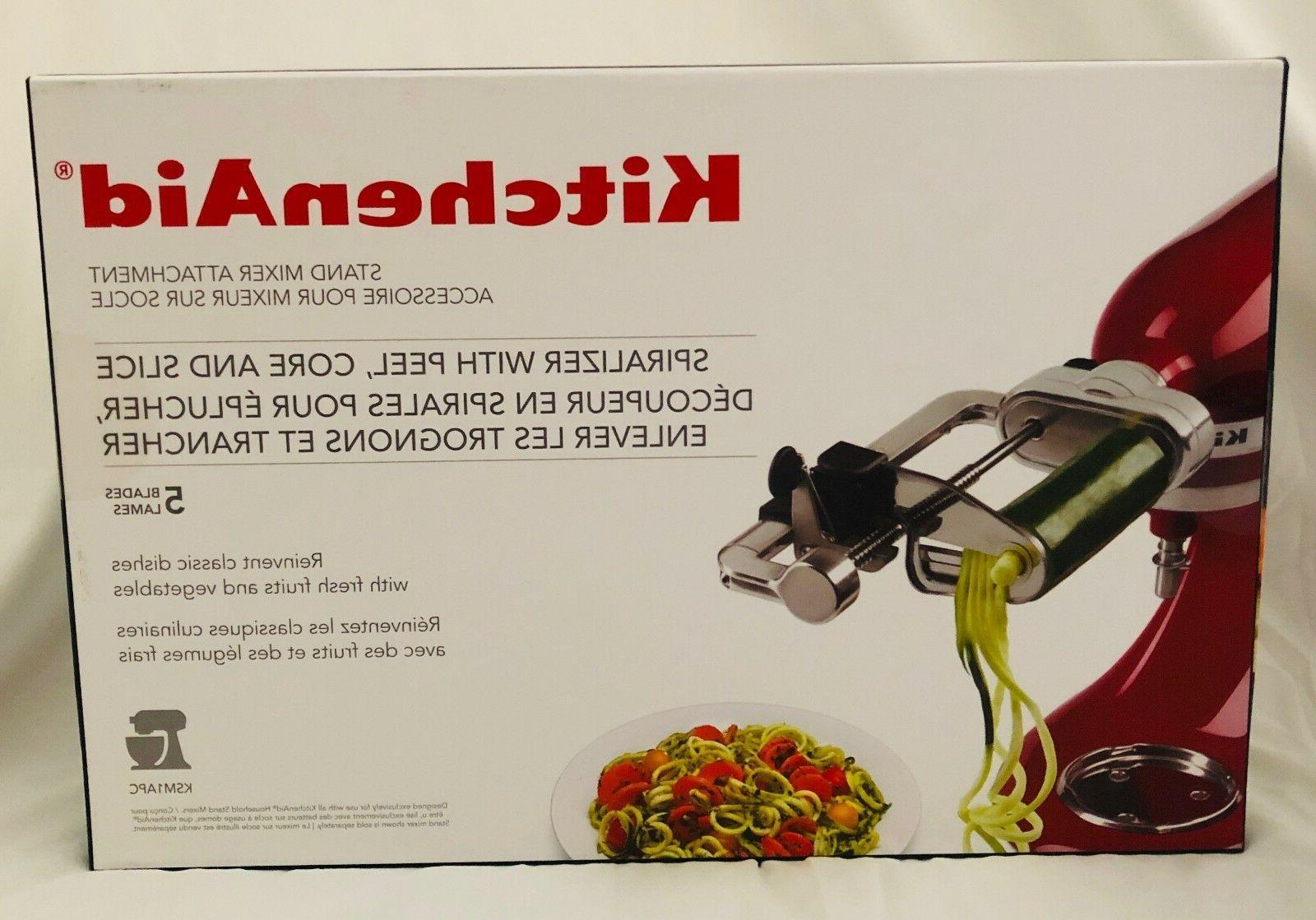 KitchenAid 5-Blade Spiralizer Peel, Slice Stand Attachment