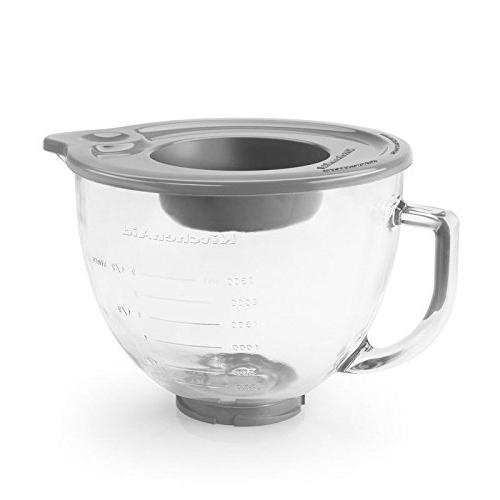 KitchenAid Quart Head Kit with Glass Bowl and Flex Edge Beater Blade