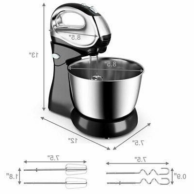 5-Speed Hand-free Stand Mixer 200W