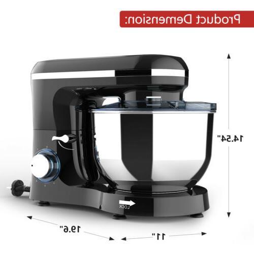 Electric Mixer 660W 7QT Machine Speed Black