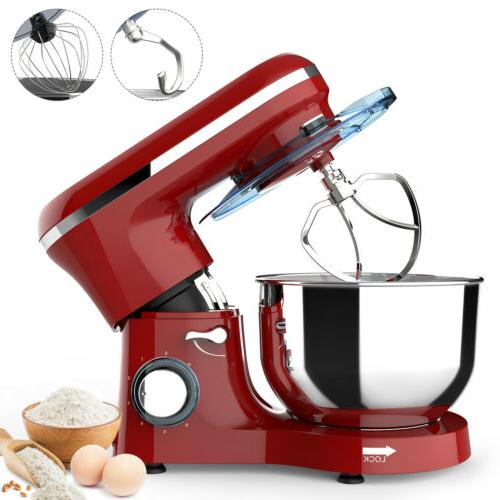 3 in 1 Tilt-Head Stand Mixer w/ 7QT Bowl 6 Speeds 850W Meat