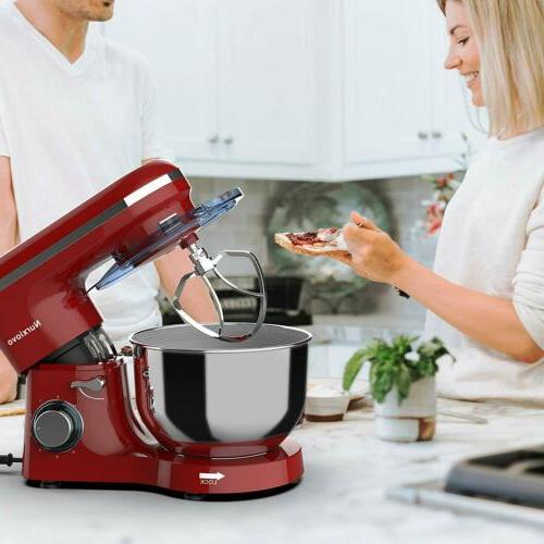 Electric Stand Mixer 6 Speed Kitchen Food Machine Red
