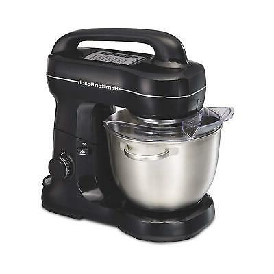 Hamilton Beach 63391 Stand Mixer, 7 Speeds with Whisk, Flat Beater A