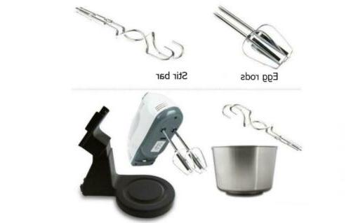7Speed Electric Stand Hand Mixer Cake Dough 2L