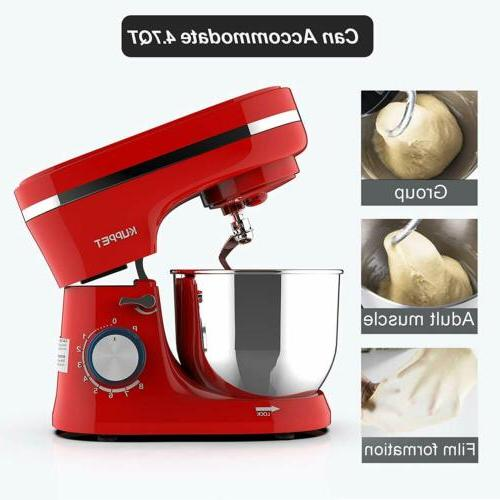Electric Food Stand Mixer 8 Speeds 4.7QT Home