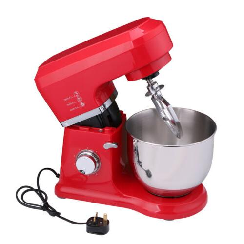 800W Stand Mixer Food Bowl Electric Whisk Speed Dough Kitchen