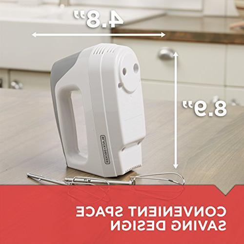 BLACK+DECKER Lightweight Mixer, White,