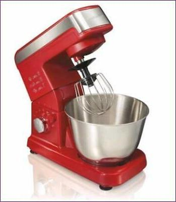 Hamilton - Tilt-head Stand Mixer - Red