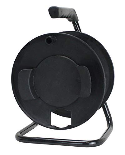 Prime CR003000 Portable Cord Reel with Metal Stand, Black, H