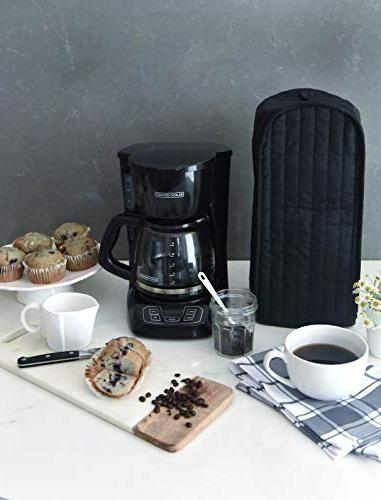 RITZ Polyester Quilted Stand or Coffee Maker Appliance Dust and Machine Washable, Black