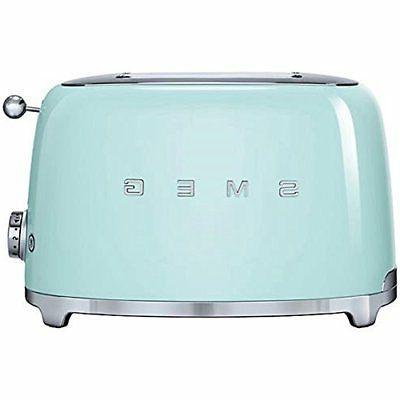 Smeg TSF01PGUS 50's Retro Style Aesthetic 2 Slice Toaster, P